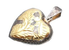 Heart Locket Sterling Silver Gold Vintage by TheJewelryLadysStore