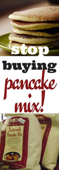 Stop buying pancake mix! Save money and even time by making your own