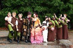Steampunk wedding party