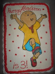 And another picture of a Caillou cake