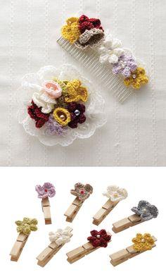 Free pattern for flowers.      ♪ ♪ ... #inspiration_crochet #diy GB