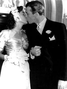Jimmy Stewart and Gloria Hatrick McLean's wedding, 1949 (m. 1949–1994, until her death).