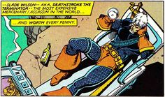 "comicbookvault: ""    UNCANNY X-MEN AND THE NEW TEEN TITANS (Jan. 1982) Art by Walt Simonson & Terry Austin Words by Chris Claremont "" Deathstroke - Slade Wilson"