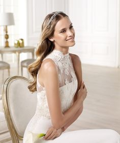 Pronovias presents the Yamilet wedding dress. Atelier Pronovias 2014. | Pronovias