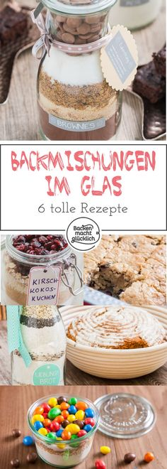 Tolle Backmischungen im Glas 6 great recipes for baking mixes in the glass – there is a gift for every occasion. Here you will find not only delicious recipes for baking mixes, but also a guide, so that the individual gift is particularly pretty. Easter Recipes, Dessert Recipes, Desserts, Diy Gifts Last Minute, How To Make Pesto, Pesto Recipe, Easy Christmas Crafts, Diy For Kids, Great Recipes