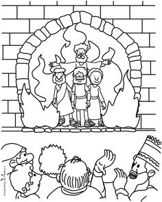 The Fiery Furnace (Coloring Page) Coloring pages are a great way to end a Sunday School lesson. They can serve as a great take home activity. Or sometimes you just need to fill in those last five m…