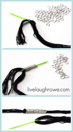 How-To Necklace Tutorial: embroidery floss and jump rings.