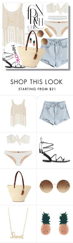 """No 425:Summer Vacation #newchic"" by lovepastel ❤ liked on Polyvore featuring Lisa Marie Fernandez, Anine Bing, Victoria Beckham, Sydney Evan, Aamaya by priyanka, The Body Shop, chic, New and newchic"
