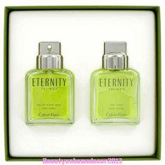Eternity by Calvin Klein Gift Set 3.4 oz Eau De Toilette + 3.4 AS for Men NIB #CalvinKlein