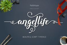 hi Welcome Angellife Angellife is a beautiful Script, It suitable for wedding invitation, greeting cards, T-Shirt, Logo or any design that you create.comes with a complete set of standard