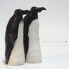 pingwiny,figurki,unikaty,ceramika artystyczna, - Ceramika i szkło - Wyposażenie wnętrz
