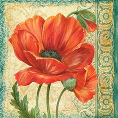 RB6225PG <br> Poppy Tapestry I <br> 18x18