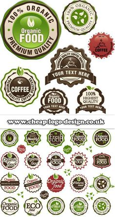 organic food logo design ideas www.cheap-logo-design.co.uk #organicfoodlogos #organicfood #logodesign