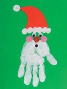 Handprint Santa.