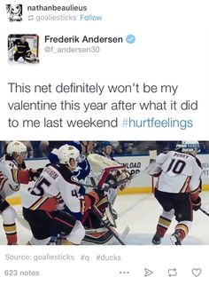 The net just wanted to protect you Hockey Memes, Hockey Goalie, Hockey Players, Ice Hockey, Funny Hockey, King Sport, Red Wings Hockey, Tyler Seguin, Pittsburgh Penguins Hockey