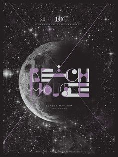 Poster for the band Beach House performing at the 2011 Sasquatch! Music Festival in Washington
