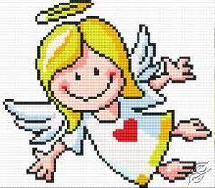 cross stitch patterns free angel - Google Search