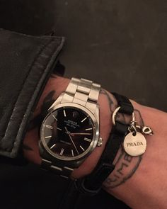 """blackistheonlycolor: """" New watch today: Rolex Air King from 1988 Love it!!! xxx """""""