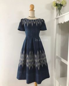 Image may contain: people standing Dressy Dresses, Lovely Dresses, Simple Dresses, Emo Dresses, Party Dresses, Batik Fashion, Skirt Fashion, Fashion Dresses, Modern Filipiniana Dress