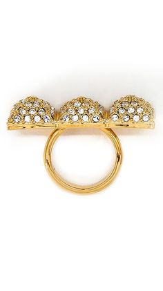 MacKenzie Pave Knuckle Ring