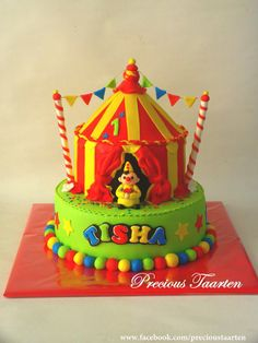 Bumba clown / cartoon cake made with fondant. Inspired by ...