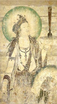 Mural of a Bodhisattva. China, 10th century.