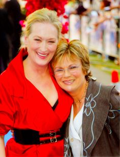 """Meryl Streep at the """"Mamma Mia!"""" premiere with Julie Walters.nI adore these guys Mamma Mia, Female Actresses, Actors & Actresses, Julie Walters, Hooray For Hollywood, Great Films, Meryl Streep, Music Tv, Best Actress"""