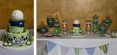 golf themed birthday  #candy buffet #golf #birthday #50th birthday