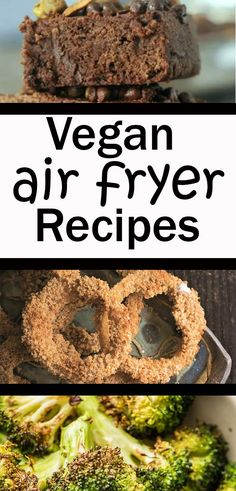 These vegan air fryer recipes are exactly what you need when you are looking for a healthy breakfast, lunch, dinner or dessert. There are oil free, tofu, cauliflower, potato, veggie and main dish ideas. These easy plant based options are the best options for your air fryer! Air Fryer Recipes Vegan, Best Vegan Recipes, Healthy Recipes, Vegan Junk Food, Vegan Snacks, Vegetarian Desserts, Hot Desserts, Plant Based Snacks, Air Fried Food