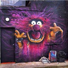 Muppets - Animal Street Art