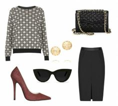 sweaters and pencil skirts | Today's Look | How to Wear a Pencil Skirt with a... | StyleCaster