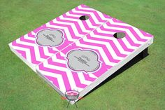 Choose Your Own Chevron Themed Cornhole Board set Outdoor Wedding Games, Picnic Blanket, Outdoor Blanket, Custom Cornhole Boards, American Flag Stars, Ready To Play, Paint Finishes, Paint Colors, Custom Design