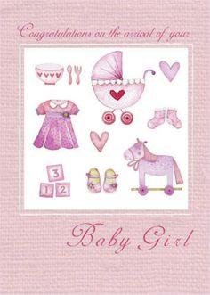 Sophie Hanton Baby girl hessian