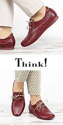 HIL 711 CHILLI Think 84101-72 Damen Schnür Schuhe erdiges rosso-rot