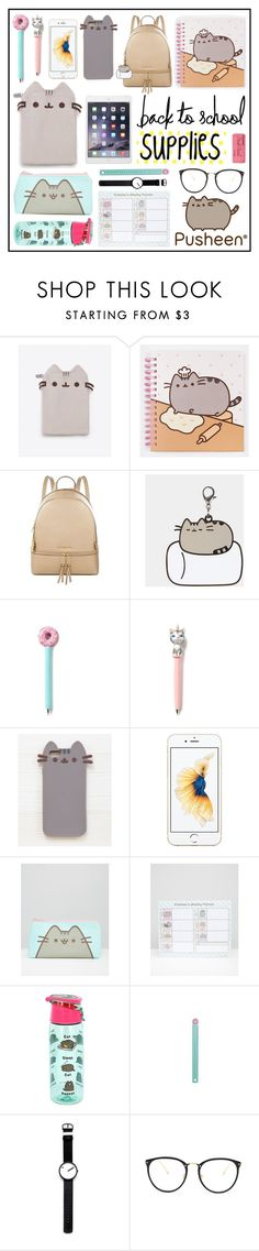 """HOME : PVxPusheen"" by yorgitaa ❤ liked on Polyvore featuring interior, interiors, interior design, home, home decor, interior decorating, Pusheen, WALL, MICHAEL Michael Kors and Rosendahl"