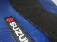 SEAT COVER ULTRA GRIP SUZUKI DR 350! BLUE & BLACK..EXCELLENT QUALITY! #MmCdMotoshop