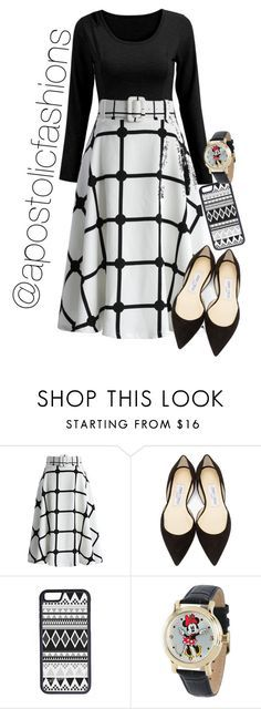 """""""Apostolic Fashions #1406"""" by apostolicfashions on Polyvore featuring Chicwish, Jimmy Choo, CellPowerCases and Disney"""