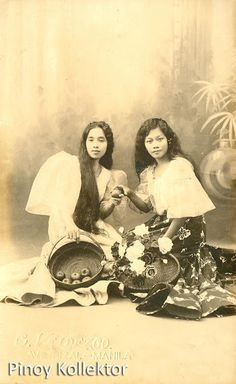 Pinoy Kollektor: December 2012 Philippines People, Philippines Culture, Philippine Art, Philippine Women, Filipino Fashion, Filipino Culture, Filipina Beauty, Filipiniana, Historical Pictures