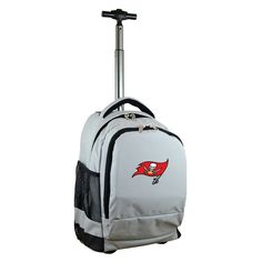 NFL Tampa Bay Buccaneers Premium Wheeled Backpack - Grey