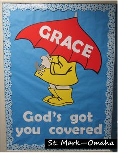 Sunday school bulletin board - a great one for April or spring time!