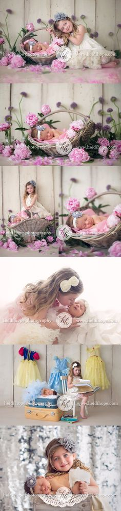 New Born Baby Photography Picture Description Newborn baby M and her big sister E visit the Rhode Island portrait studio for some sister fun! Foto Newborn, Newborn Poses, Newborn Shoot, Newborns, Baby Newborn, Newborn Baby Photography, Girl Photography, Children Photography, Photography Flowers