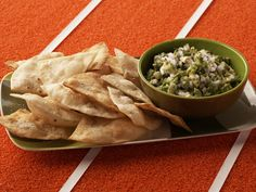 Guacamole with Cumin Dusted Tortillas Recipe : Bobby Flay : Food Network - FoodNetwork.com