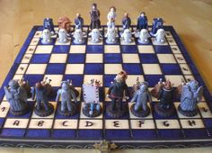 DOCTOR WHO CHESS SET - OH MY STARS. I WOULD DEFINITELY LEARN TO PLAY CHESS IF I HAD THIS