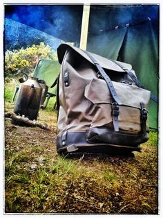 Swiss Mountain Pack - Reconditioned Swiss Army Engineers or Transport Canvas Rucksack