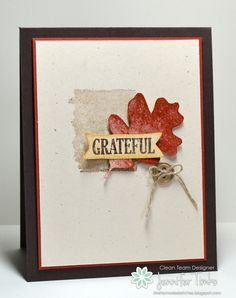Jen Timko - FMS151 - Thanks: Stampin' Up! CAS Card