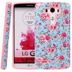 Amazon.com: LG G3 Case, LG G3 Flower Case - Style4U Slim Fit Dual Layer Hybrid Armor Protective Case Cover for LG G3 with 1 Stylus [Flowr Pink]: Cell Phones & Accessories