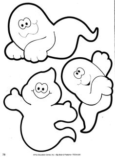 Halloween Patterns (ghosts). Use these cute patterns for your bulletin boards, craft projects, newsletters, student notes/pages, and more! Need more time-saving, grade-appropriate seasonal, holiday, and subject-are patterns? Big Book of Patterns is your answer! View a detailed description and sample pages of this valuable teacher resource at store.oblockbooks...