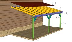 Detailed project about attached carport plans free. If you want to build a carport attached to an existing building, then pay attention to the plans and instructions. Decor, Diy Carport, Wood Carport Kits, Diy Wood Projects Furniture, House With Porch, Building A Shed, Building A Carport, Carport Garage, Carport Plans