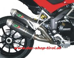 """Duc Shop Tirol - QUAT-D 2-1-2 Komplettanlage """"Hard Rock"""" mit Schalldämpfern vom Typ """"Magnum"""" Carbon  Ducati Multistrada 1200 (ab Bj. 2010)"""