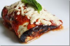 Grilled Eggplant Rollatini With Ricotta and Fava Bean Filling {Vegan} | The Wannabe Chef